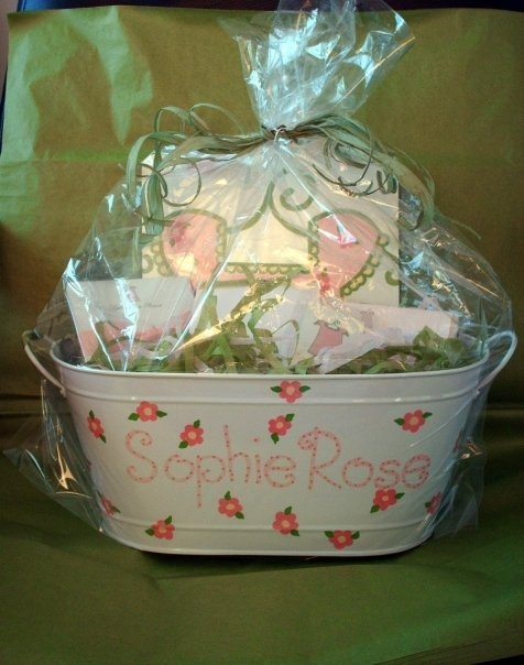 gift basket girl baby shower basket gift ideas pinterest