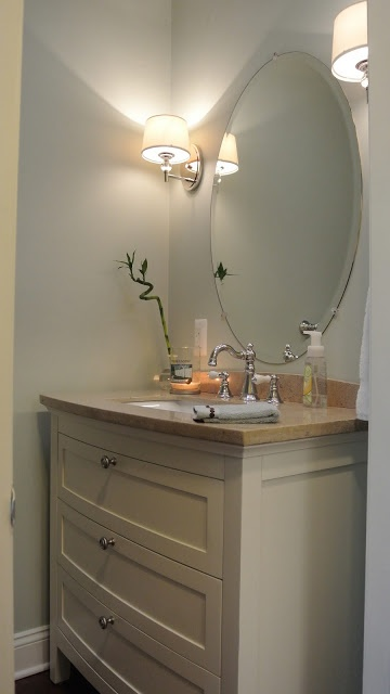 Powder room- sea salt sherwin Williams Do this for powder room maker ...