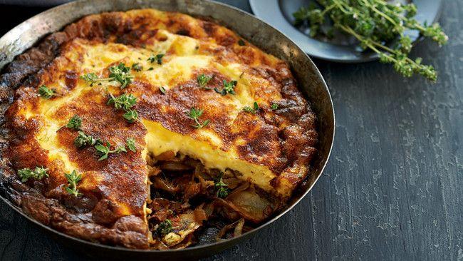 Potato and caramelised onion frittata | FOOD | Pinterest