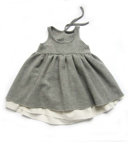 Marta dress with removeable underdress. By Anja Schwerbrock.