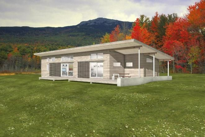 Free passive solar home plan for the home pinterest for Solar cottage plans