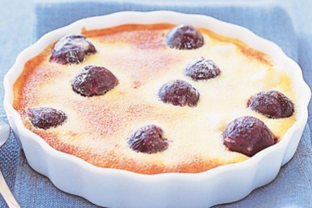Custard apple and cherry clafouti | A Spoon Full of Sugar | Pinterest