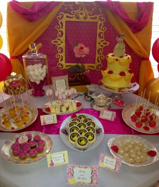 Beauty and the beast birthday party ideas for Beauty and beast table decorations