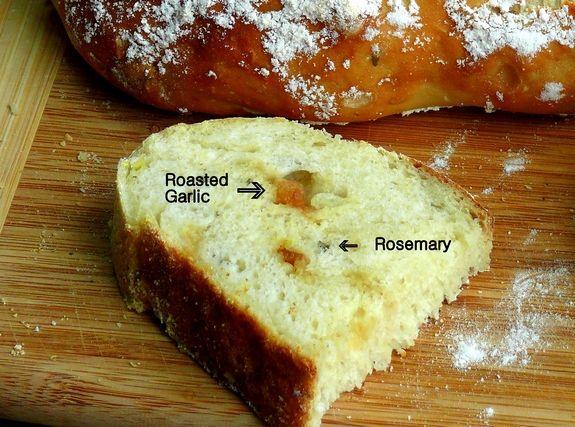 Easy-Artisan Roasted Garlic-Rosemary Bread | Recipe
