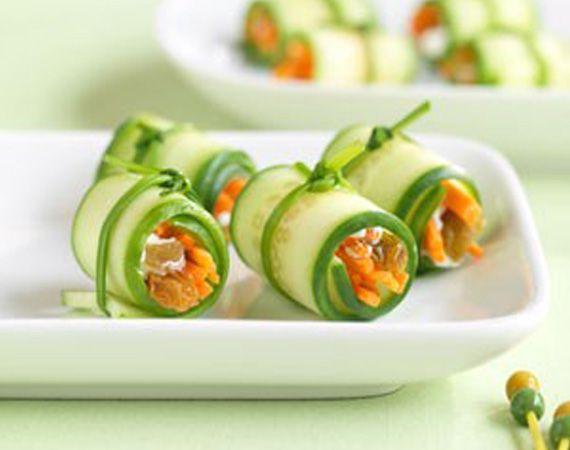 Mini Veggie Sushi #Sushi #Sushimi | Sushi | Pinterest