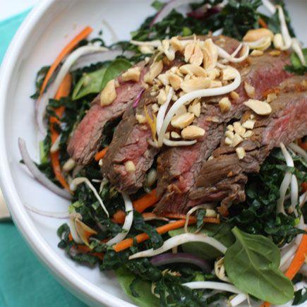 Asian Ginger Garlic Steak Salad by @Candice Kumai in Shape Magazine ...