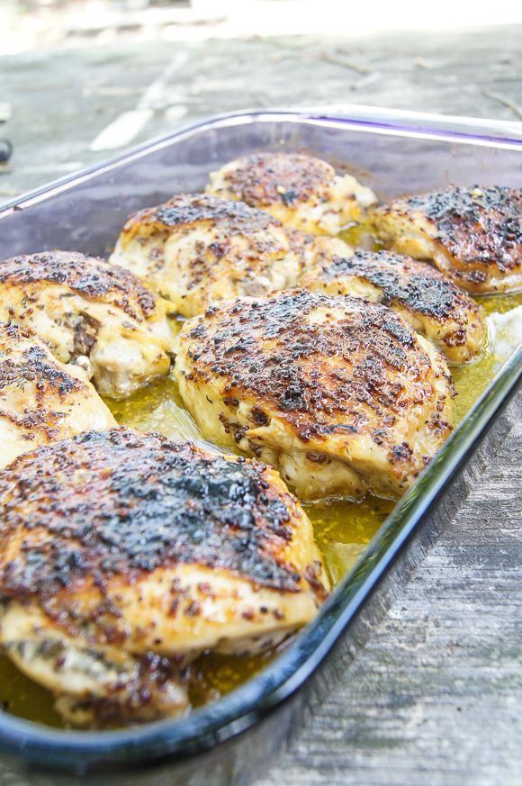GCC: Baked Chicken with Honey-Whole Grain Mustard Glaze - Home ...