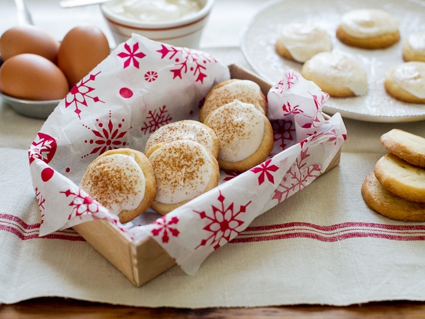 Butter Cookies with Eggnog Cream Cheese Icing from CookingChannelTV ...