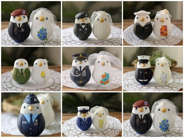 Military Wedding Egg cake toppers-one of our brides used this, it was fantastic!