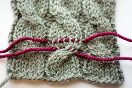 Fixing cable and colorwork errors