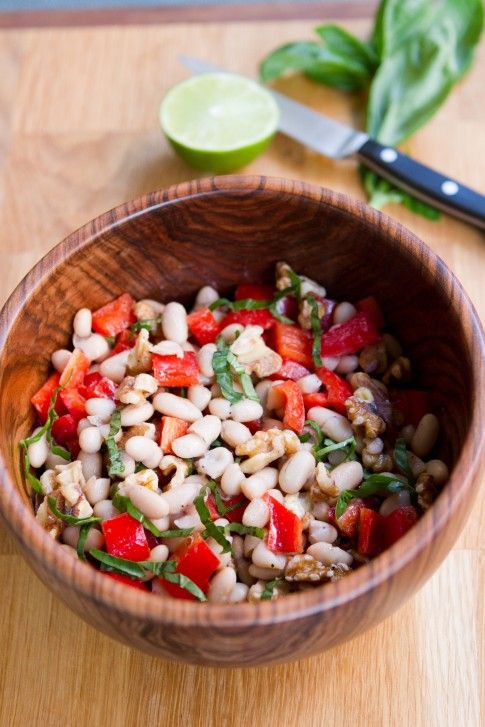 Cannellini, Red Pepper and Walnut Salad