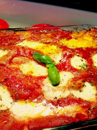 Fresh Mozzarella, Sausage & Spinach Lasagna with Alfredo & Tomato ...