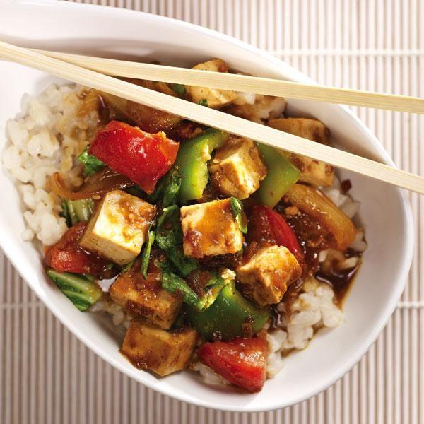 Curried Tofu Stir-Fry #MeatlessMonday | Foodie! | Pinterest