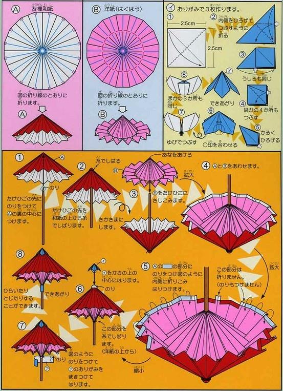 Зонтик из бумаги своими руками схема 60