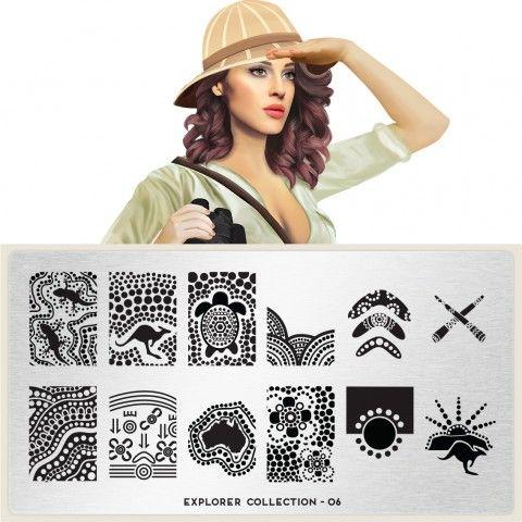 Explorer Plate Collection 06 moyou.co.uk | info@moyoumarketing.com #moyoulondon #NOTD #nailart #london #beauty #pinup #explorer #history #archeology #arqueologia #culture #egypt #egipto #australia #antipodas