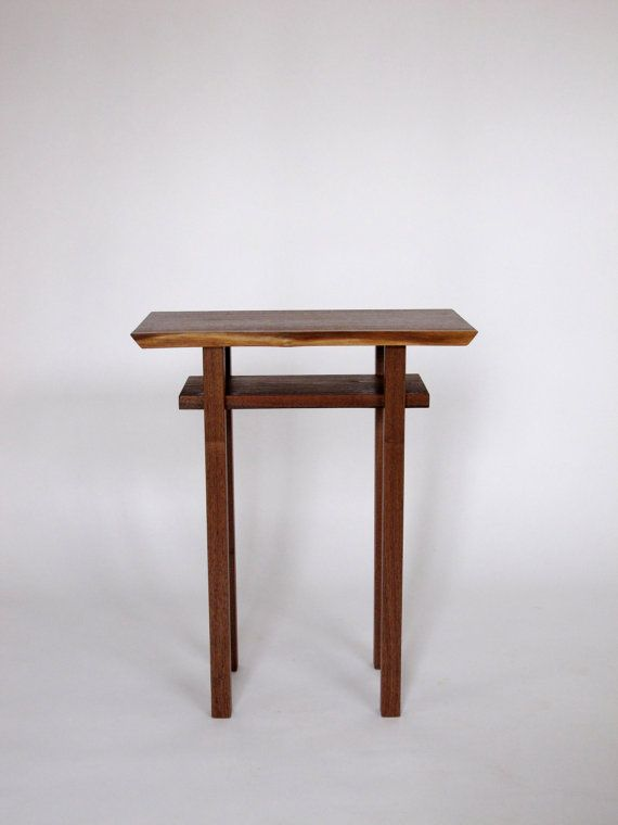Live edge side end table small accent table bed side table walnut - Side table small space photos ...