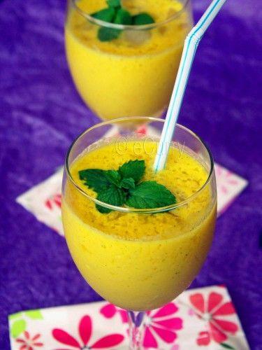 Mango Mint Lassi - Lassi is a yogurt based drink very popular (esp ...