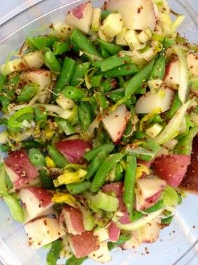 "Mostly NOT Potato Salad - bright, pretty salad from ""Super Natural ..."