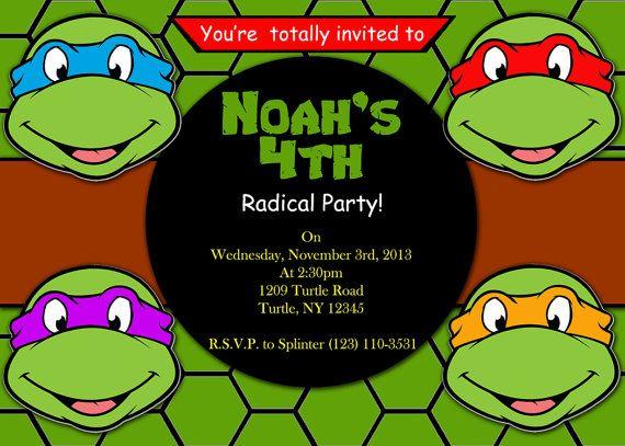 Teenage mutant ninja turtles invitations template - photo#11