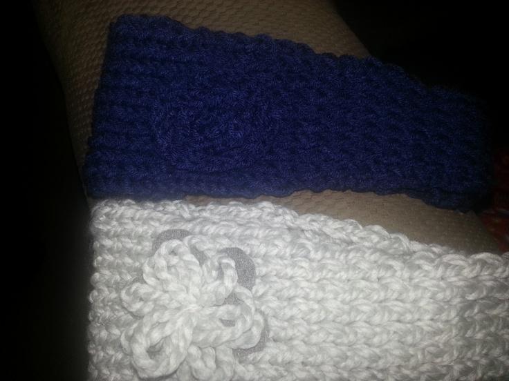 Ear warmers make on knitting loom. Creations Pinterest