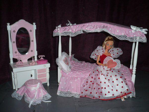 Chambre Gris Et Bleu Ciel : chambre a coucher de reve Barbie  Né en 1976  Pinterest