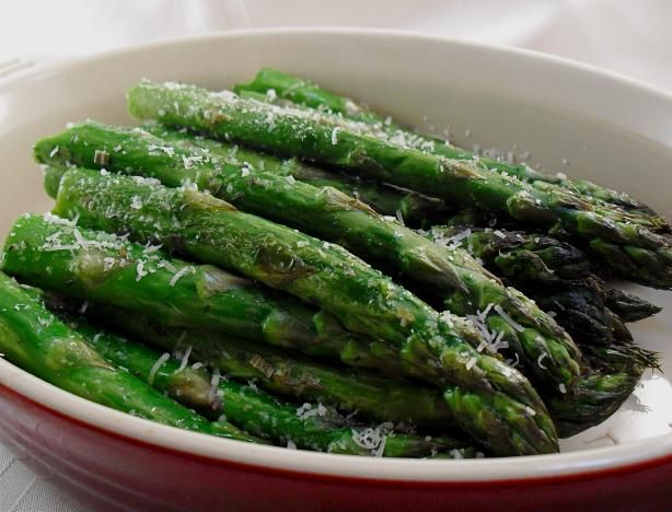 Asparagus, Oven-Roasted. Photo by PaulaG. Actually just sprinkled all ...