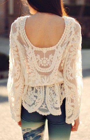 Sheer Crochet Lace Top