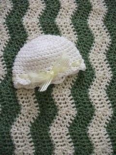 Baby Ripple Blanket & Cloche #crochet