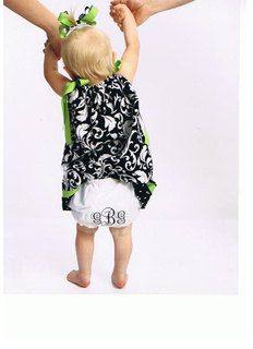 Monogrammed Diaper Covers Bloomers Size 2T by AbbysInspiration, $9.50