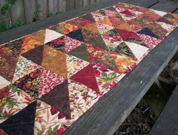 Foliage handmade by  Fall Handmade table $62  Runner Table Autumn runner Fall atthebrightspot,