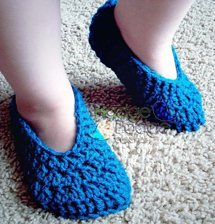 Crocheting: Simple Toddler Slippers Crochet - Knitting Pinterest