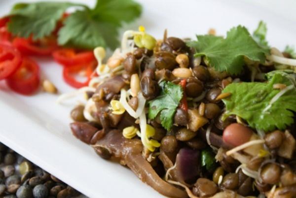 Warm lentil salad, Yum! | SheKnows Fitness | Pinterest
