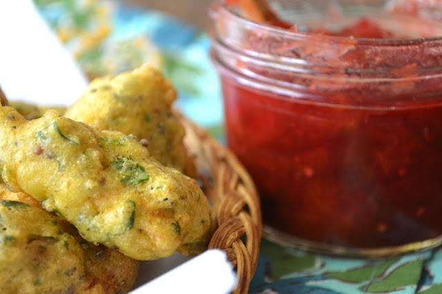 Chicken Pakora with Plum Chutney | Food & Recipes Volume I | Pinterest