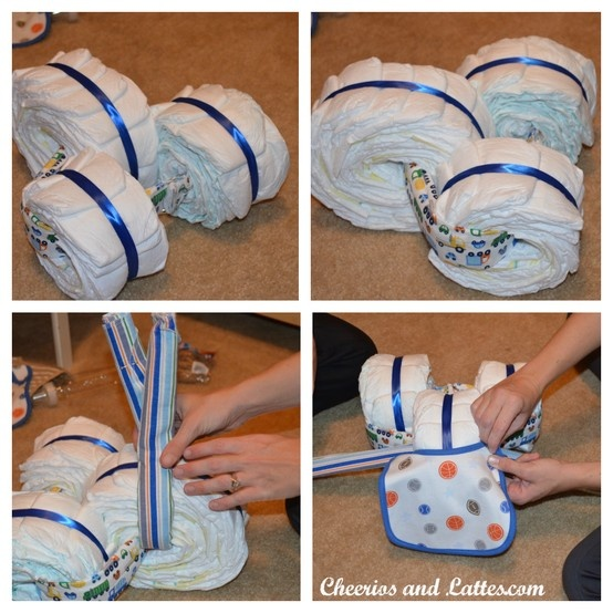 How to make the diaper tricycle baby s coming pinterest