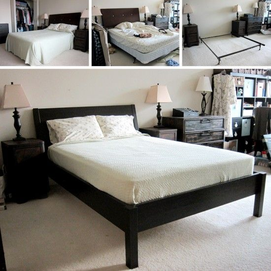Ikea Malm Bett Mit Nachttisch ~ Ikea Nyvoll Double Bed Frame And Mattress For Sale Pictures