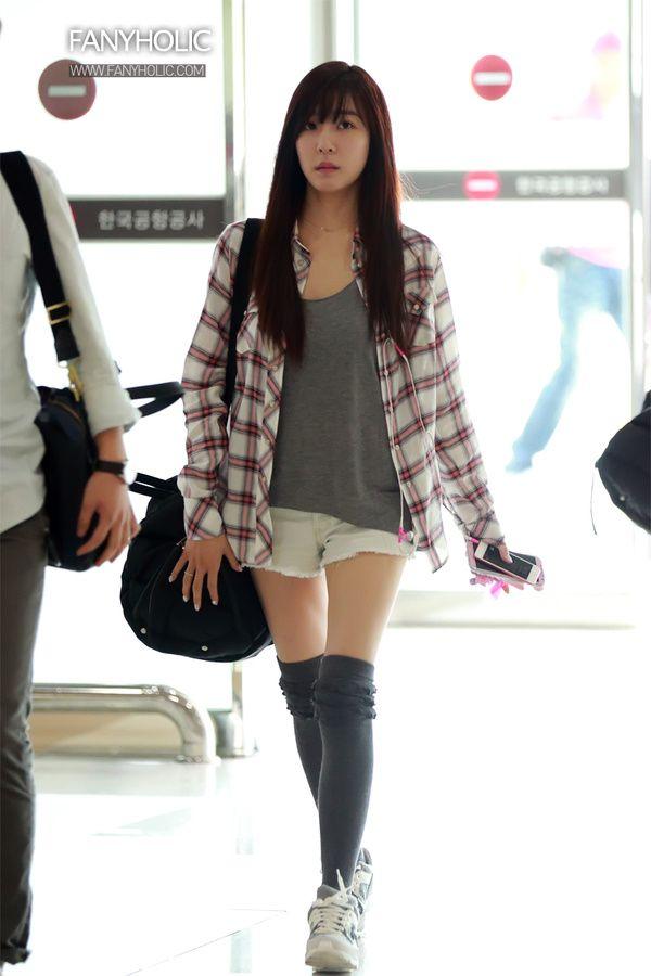 Snsd Tiffany Korean Stars Airport Fashion Casual Style Pinterest