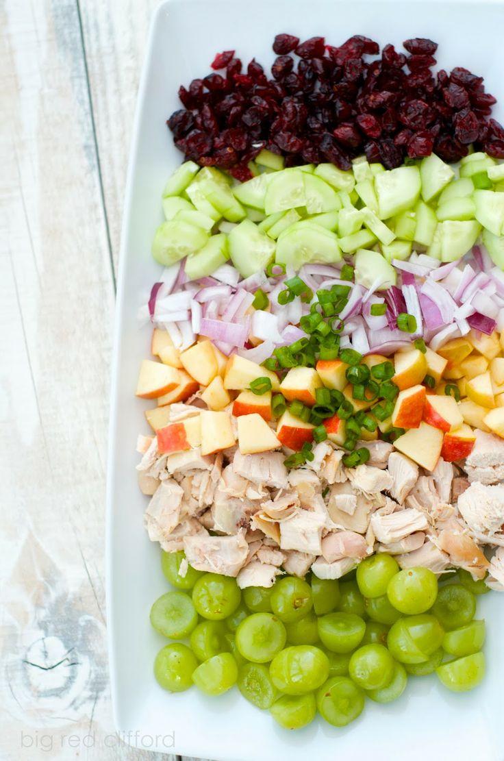 big red clifford: easy greek yogurt chicken salad sandwich