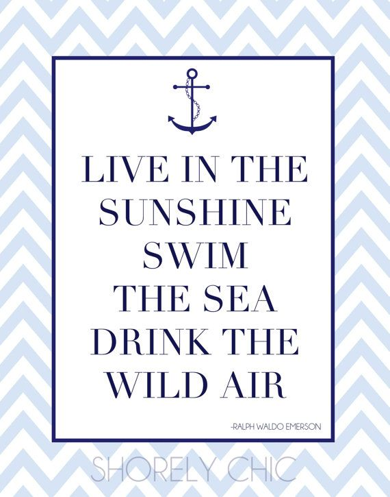 Nautical Anchor Live in the Sunshine Print by ShorelyChic on Etsy, $24.00