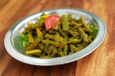 Curried Green Bean Salad | Savory and Vegan Recipes | Pinterest