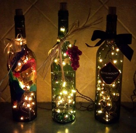 I am crazy about these bottles we made for Christmas gifts!  They are beautiful!