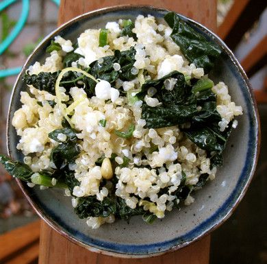One Pot Kale and Quinoa Pilaf. Makes a great meatless meal or would ...