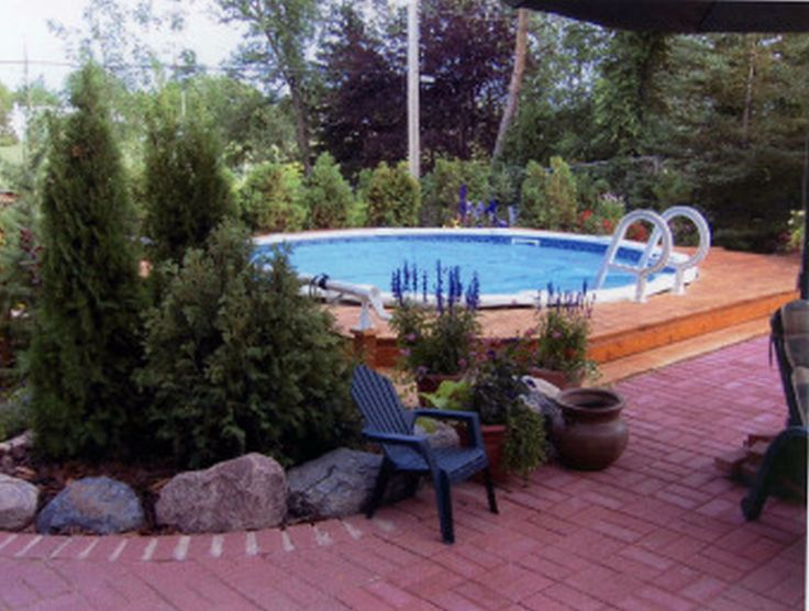 Small Backyard Landscaping Ideas With Above Ground Pool : Above+Ground+Pool+LandscapingAbove Ground Pool Landscaping4