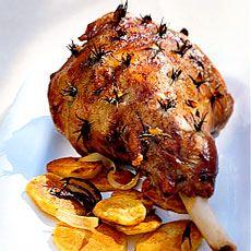 Roast Leg 'O Lamb with Rosemary/Garlic ~ serve with roasted potatoes ...