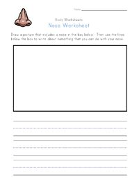 nose worksheet | PRESCHOOL: Self-Awareness | Pinterest