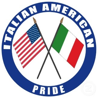 italian and american flag