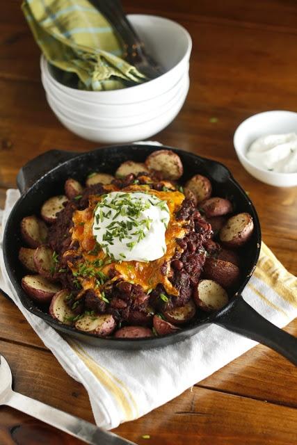 ... Vegetarian: Quick Vegetarian Chili + Mustard Roasted New Potatoes