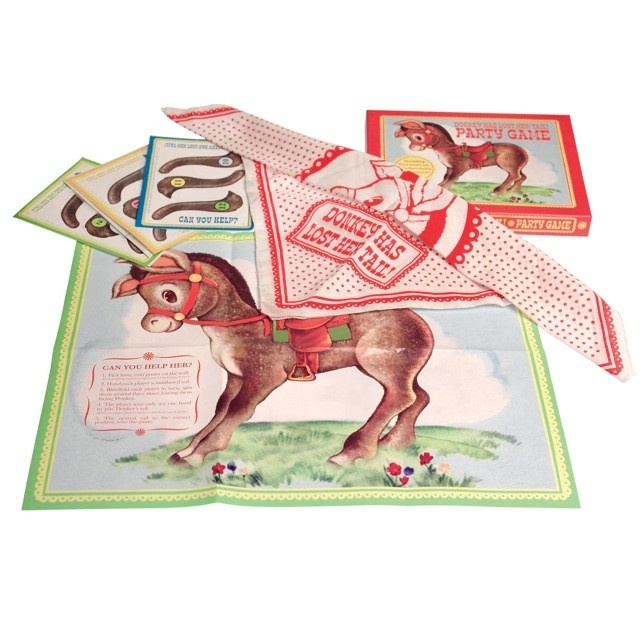 Vintage pin the tail on the donkey