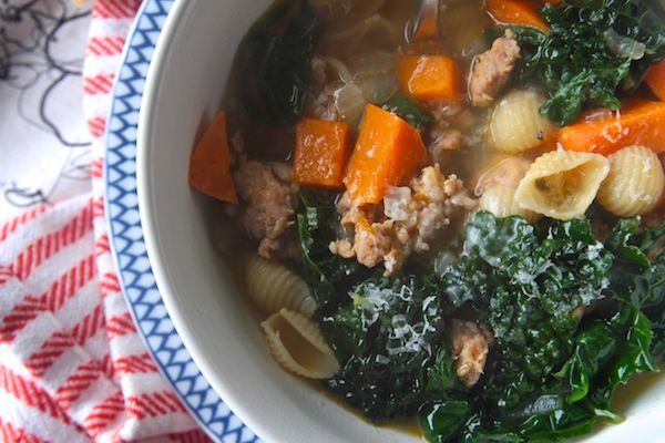 sweet potato and sausage soup. | Eat Like a Grown Up | Pinterest