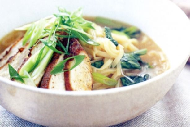 Five-spice chicken and noodle broth | Soups | Pinterest