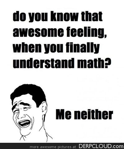 SO true--math hater!